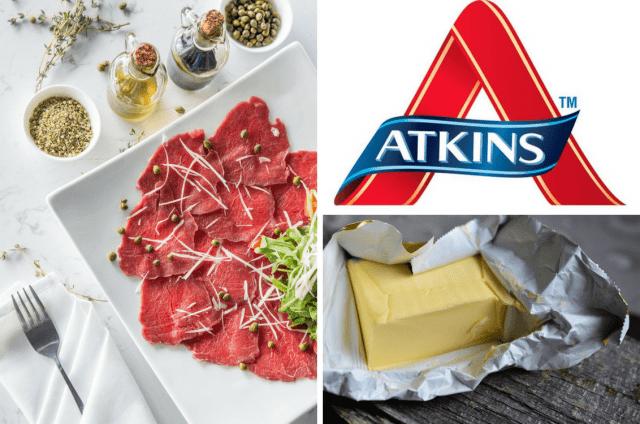 Atkins Diät vor und nach Gewichtsverlust